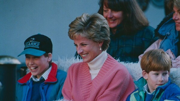 Príncipe William, Lady Di y el príncipe Harry