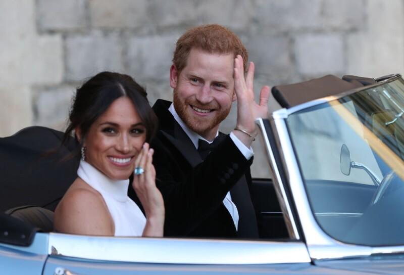 Meghan y Harry dejando Windsor