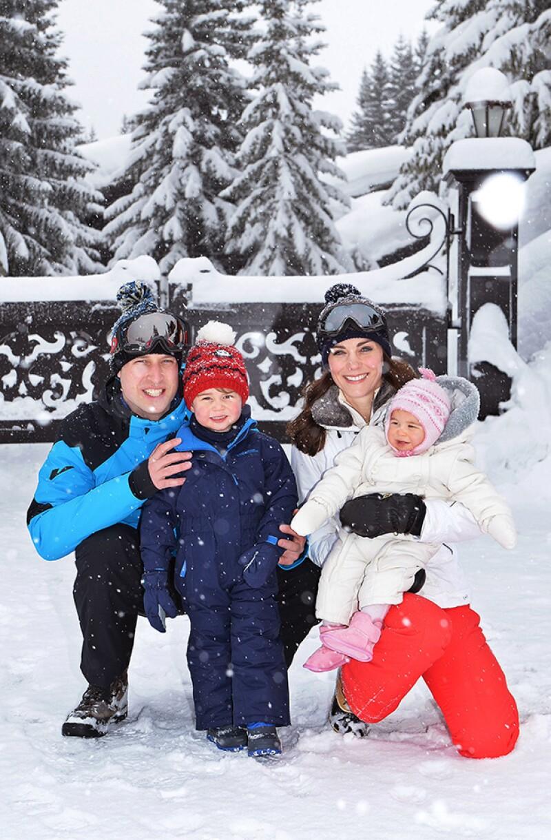 Estas son las primeras vacaciones que hace los cuatro, pues antes habían viajado con la familia de Kate Middleton.