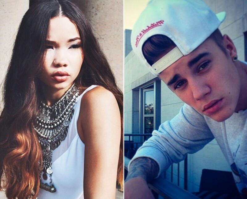 Ashley Moore es la modelo con la que Justin fue visto paseando por las calles de California en su Ferrari azul.