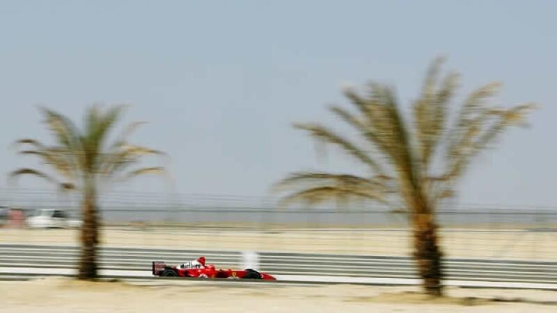una pratica durante el gran premio de bahrein