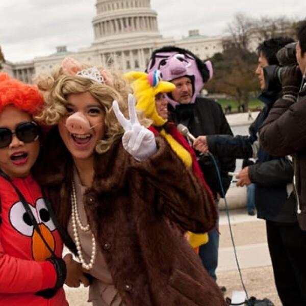 Los muppets marchan en Washington