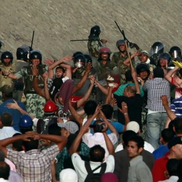 protesta en el cairo