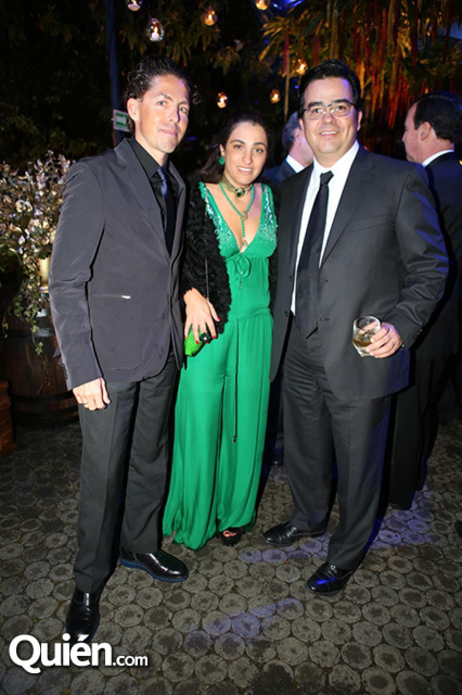Fernando Romero, Soumaya Slim y Bernardo Quintana