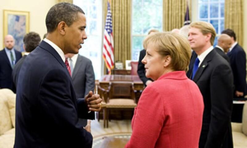 Angela Merkel agradeció al presidente Barack Obama por us compromiso con la paz en Medio Oriente. (Foto: Reuters)