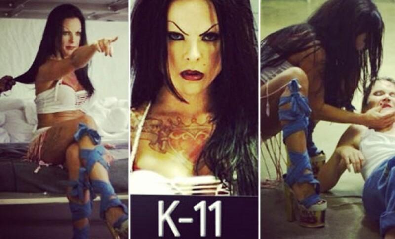 Como parte de la caracterización para su próxima película K-11, de la cual te mostramos el trailer, la actriz compartió más imágenes sobre este temerario papel.