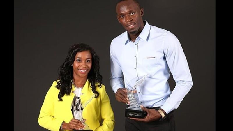 Usain Bolt y Shelly Ann Fraser Pryce