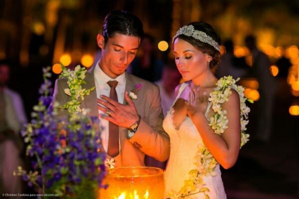 El esperado momento de la ceremonia, cargado de mucha espiritualidad.