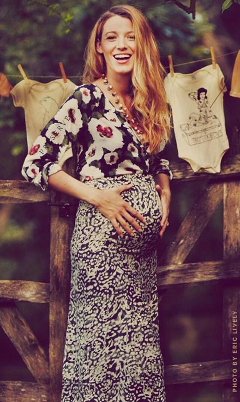 La actriz presumió su pancita de embarazada en una nueva entrada de su blog sobre estilo de vida, Preserve.