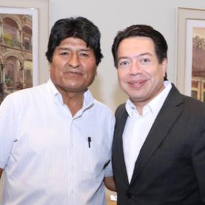 Evo Morales y Mario Delgado