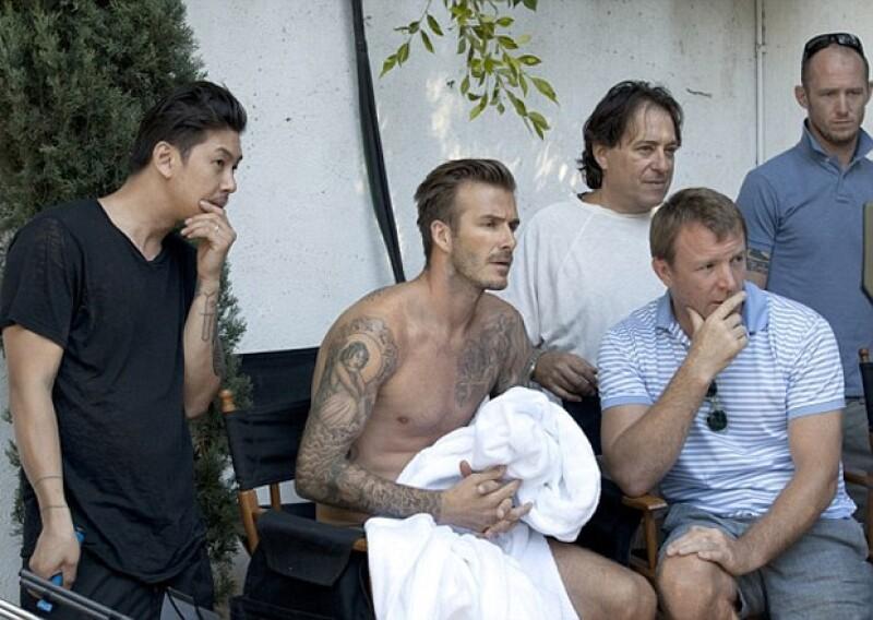 Por ratos se sentaban a analizar el trabajo realizado en el set de Beverly Hills.