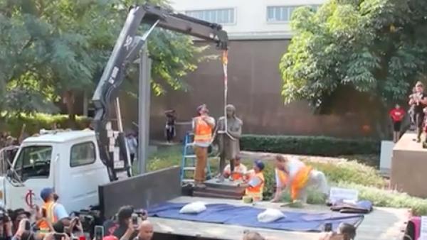 El gobierno de Los Ángeles retira la estatua de Cristóbal Colon