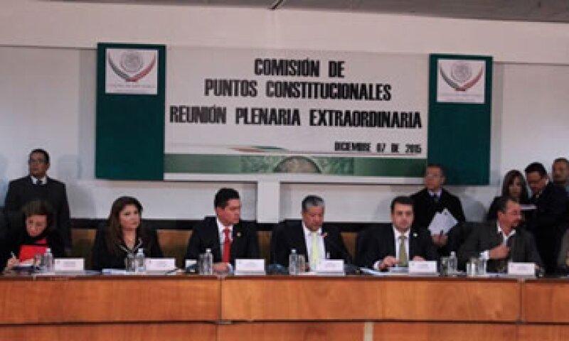 Los legisladores integrantes de la Comisión de Puntos Constitucionales (Foto: Twitter/Canal del Congreso )
