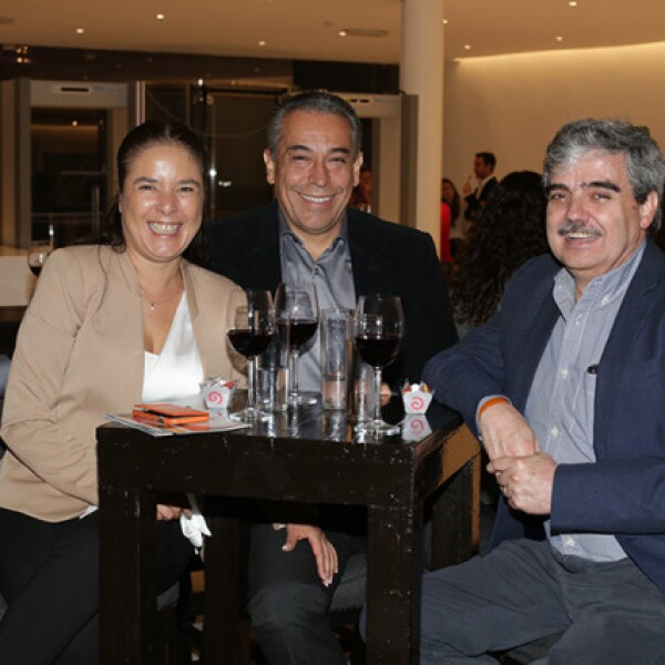 Rosenda Martínez,Benjamín Díaz y Pablo Brawn