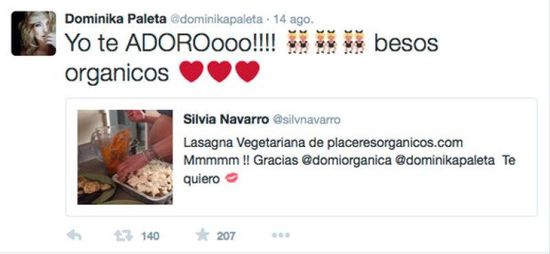 Dominika mostró su amor por Silvia a través de redes sociales.