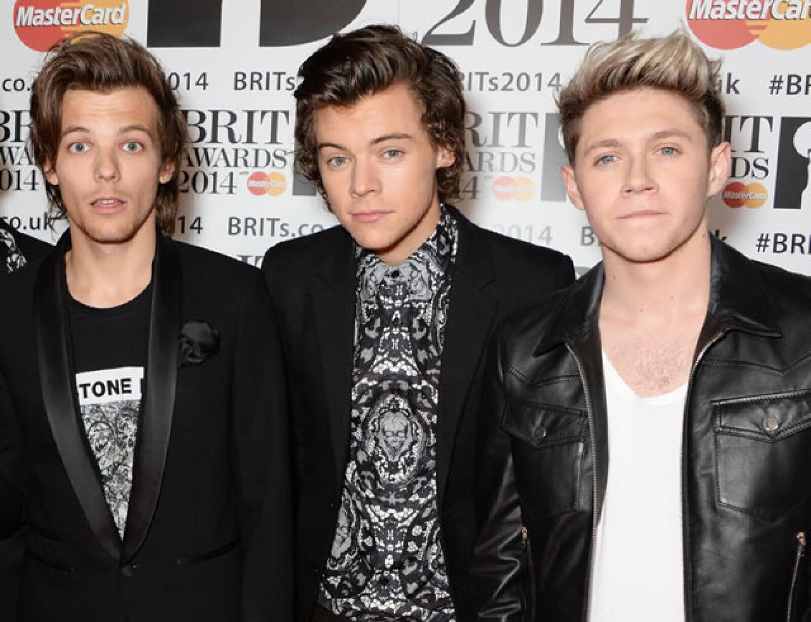 Louis Tomlinson, Harry Styles y Niall Horan.