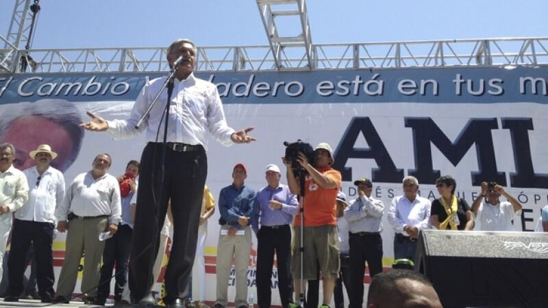 AMLO en La Paz