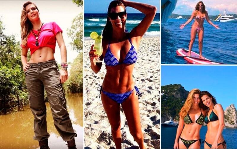 Las empresarias han pesumido sus marcadas y muy sexys figuras durante sus recientes vacaciones por Europa.
