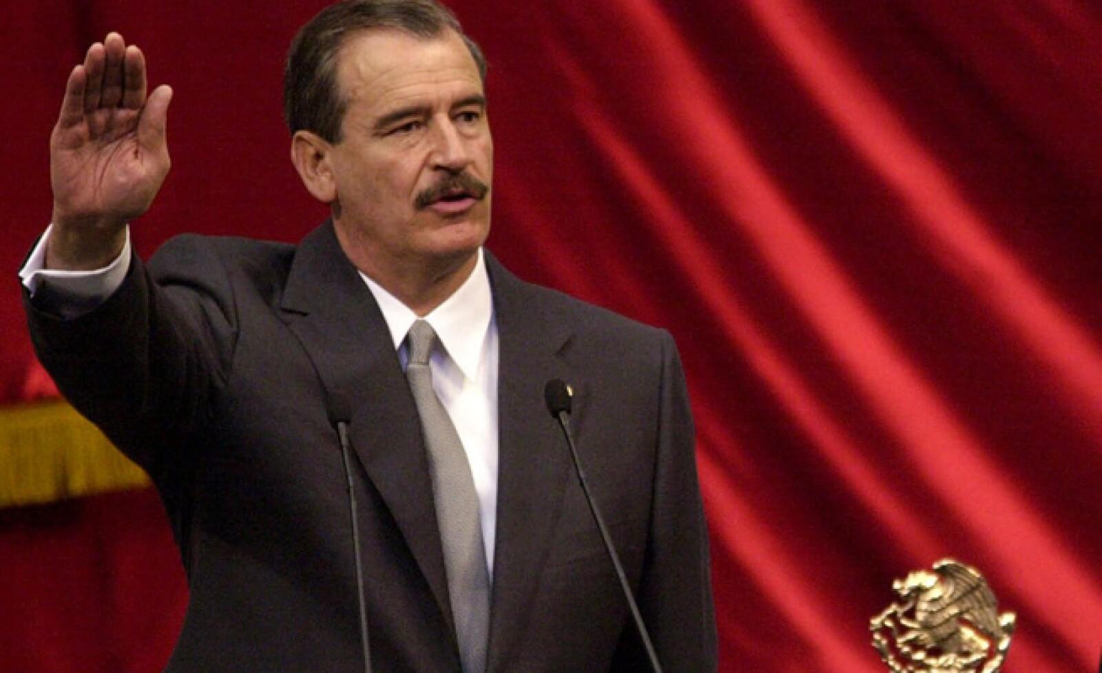 """El panista ganó la elección del 2000 y gobernó hasta 2006. Actualmente sostiene que se debe apoyar al """"puntero"""", en referencia al priista Enrique Peña."""