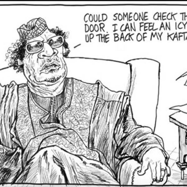 Gadhafi - caricatura - Tom Scott