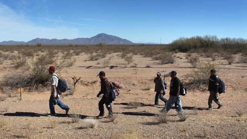 indocumentados migrantes EU desierto