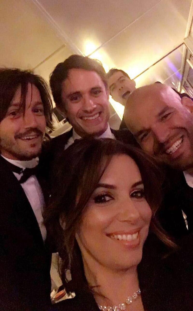 Eva, Gael y Diego se encontraron en Cannes y se tomaron una selfie para el recuerdo.