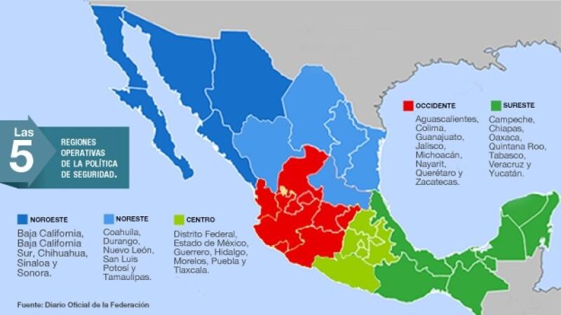 El Gobierno Federal Delimita Las Regiones De La Estrategia De Seguridad
