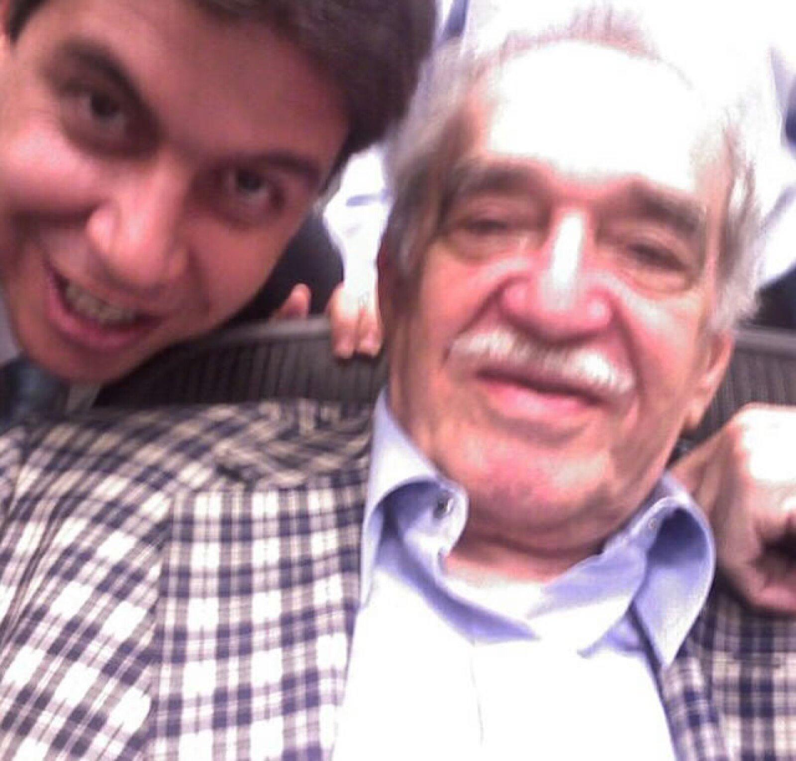 Con el fallecido escritor Gabriel García Márquez.