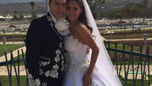 Anahí y Manuel Velasco se casaron el 25 de abril en catedral de San Cristóbal de las Casas.