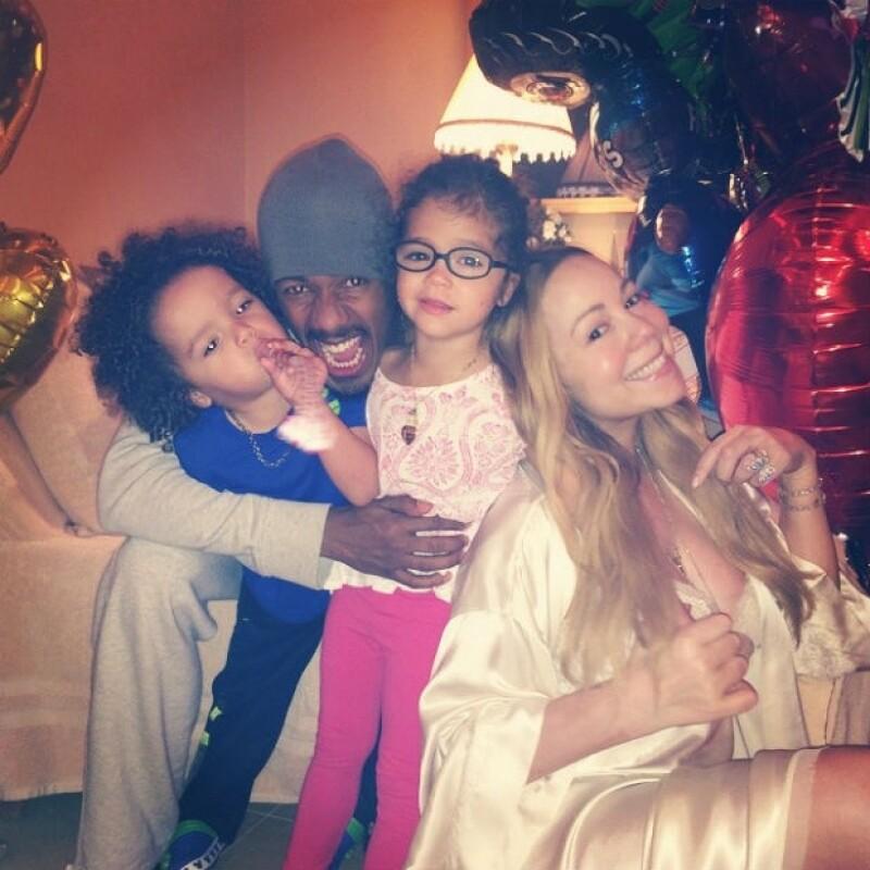Esta fue la última fotografía que Mariah publicó en junio con Nick y los gemelos en junio de este año.