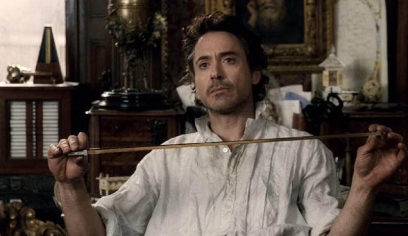 Robert en una escena de `Sherlock Holmes´.