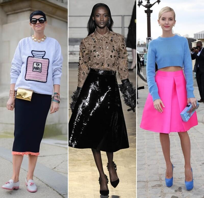 Una midi skirt puede hacerte lucir ultra femenina y realza la figura femenina.