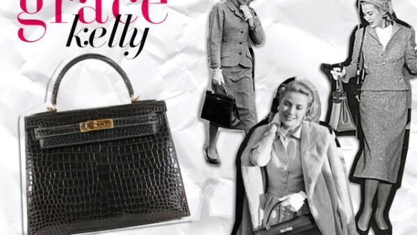 La bolsa Kelly de forma cuadrada y asas pequeñas se popularizó en los años 50 cuando la Princesa de Mónaco, Grace Kelly, la utilizó para esconder su embarazo de los paparazzi. La pieza está confeccionada de forma artesanal y se puede adquirir en una  amplia gama de pieles exóticas (cocodrilo, avestruz, cuero y pitón), su precio va de los 10 mil a los 60 mil dólares dependiendo del material, además para poder obtenerla hay que formar parte de una lista de espera de tres años.
