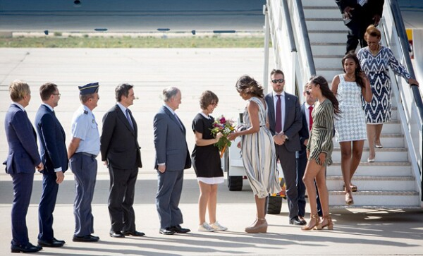 Michelle viajó a España para estar presente en el evento `Let Girls Learn´ en Madrid.