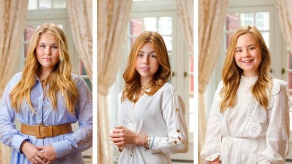 Princesa Amalia, princesa Alexia y la princesa Ariane de Holanda