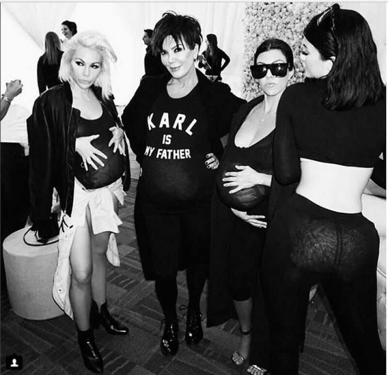 Los invitados se divirtieron disfrazándose de Kim.