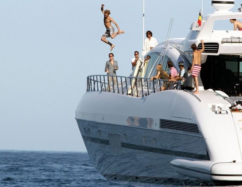 Andrea Casiraghi y sus amigos disfrutando de la Riviera Francesa.