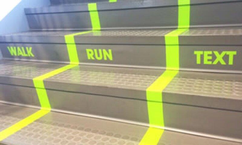 Esta es la imagen de las escaleras de esta universidad. (Foto: Utah Valley University )