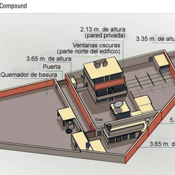 Grafico detallado casa Osama bin Laden