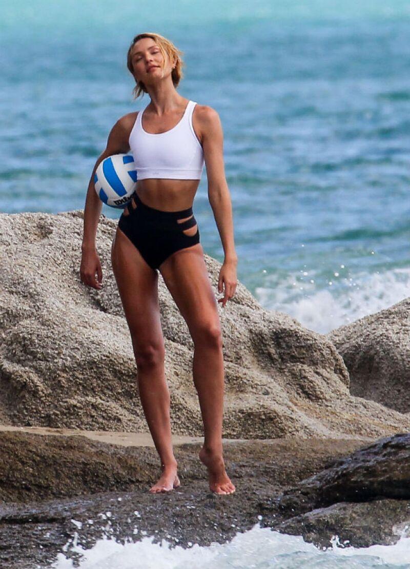 La belleza sudafricana posa para la nueva campaña de Victorias Secret.