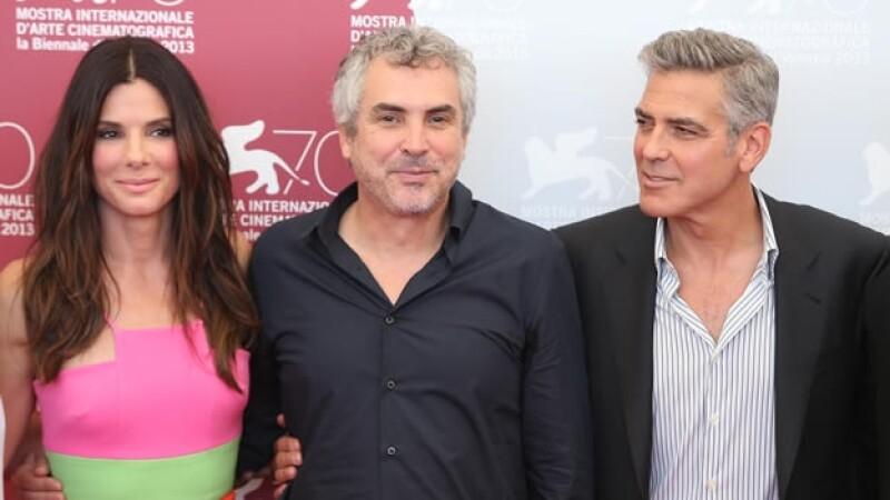 Alfonso Cuaron presenta Gravity con Sandra Bullock y George Clooney