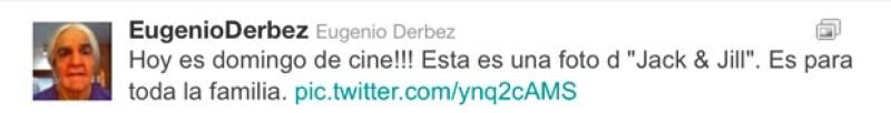 Eugenio Derbez invitó al público a ver la cinta en familia.