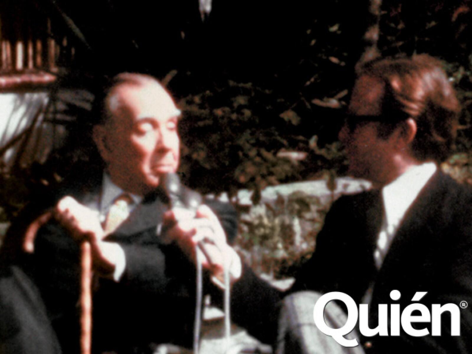 Entrevistando a Jorge Luis Borges.