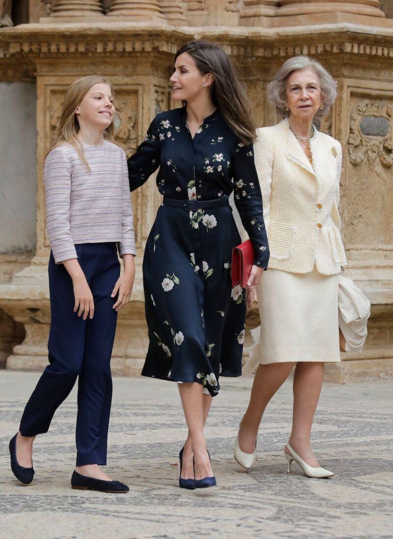 Spanish Royal Family attend mass, Madrid, Spain - 21 Apr 2019