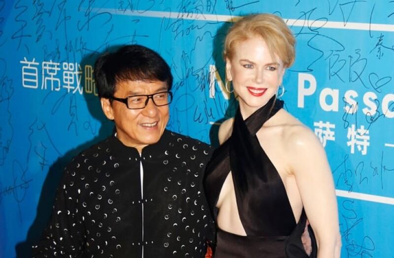 La actriz destacó por su porte en la alfombra roja de estos importantes premios en China.