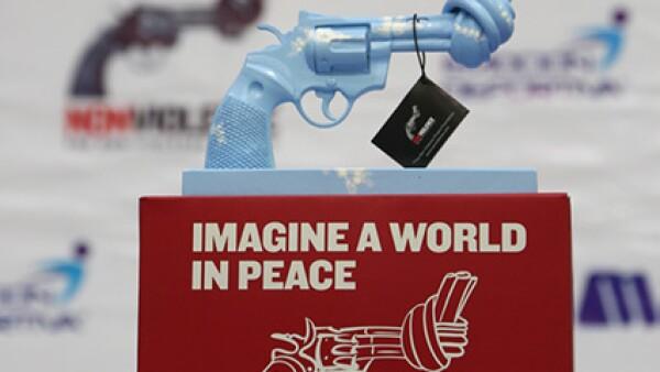 Aspecto Presentación de pistolas para la paz