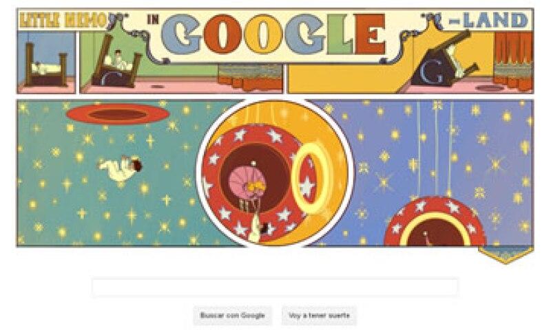 La historieta que hoy festeja el doodle de Google apareció cada domingo en el New York Herald. (Foto tomada de Google.com)