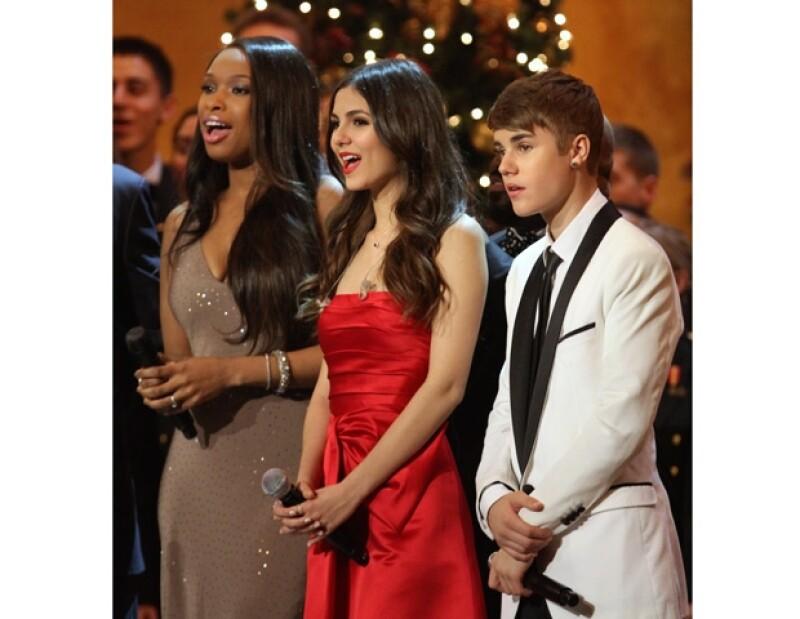 Justin Bieber y Jennifer Hudson fueron parte de los artistas invitados a esta celebración.