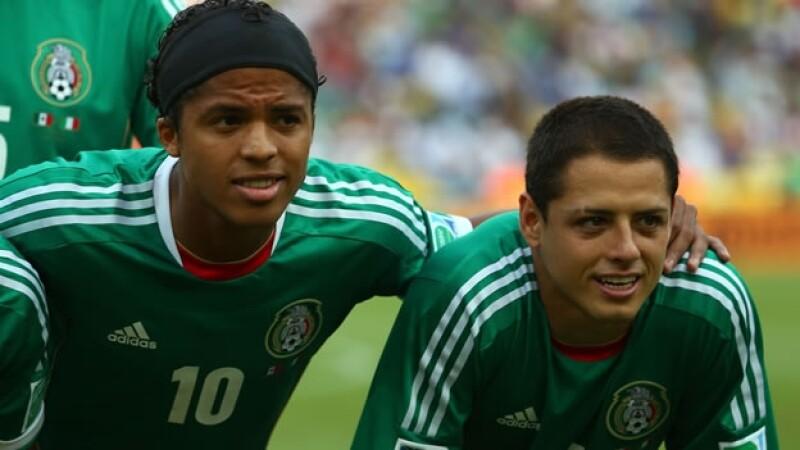 Giovani Dos Santos Javier Hernandez seleccion futbol