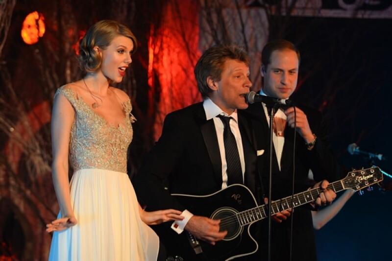 El príncipe Guillermo disfrutó compartir el escenario con sus invitados.